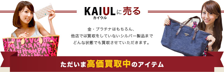 KAIUL カイウルに売る ただいま高価買取中のアイテム